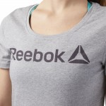 LINEAR READ SCOOP TEE